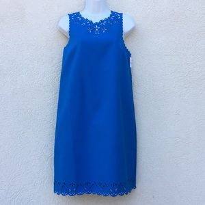 J Crew scuba dress blue size 8